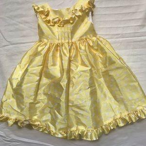 Pippa and Julie Yellow Polka-dot Dress